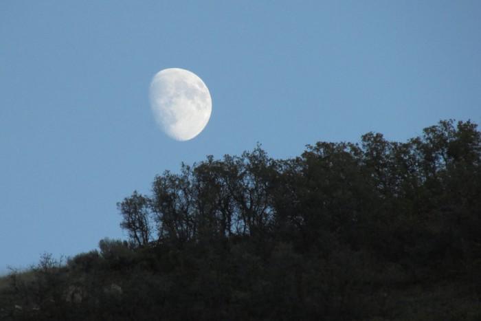 13. Joyce Bentkowski Benevice shared this photo of the moonrise over Traverse Mountain.