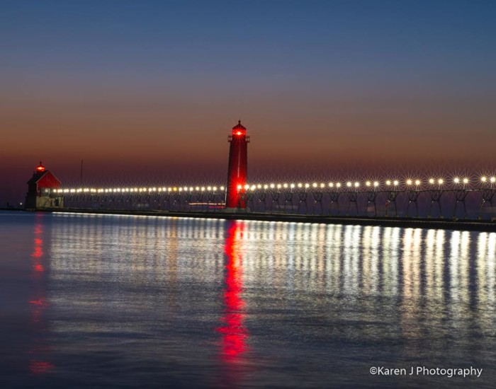8) Karen J Photography found this perfect photo opp of Grand Haven State Park.