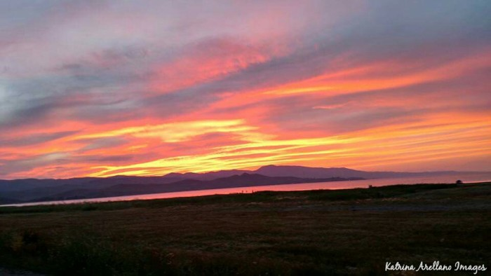 3. The sunset over Bear Lake creates another pastel sky.