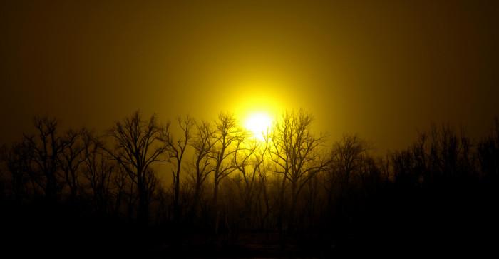 12. Golden sunrise.