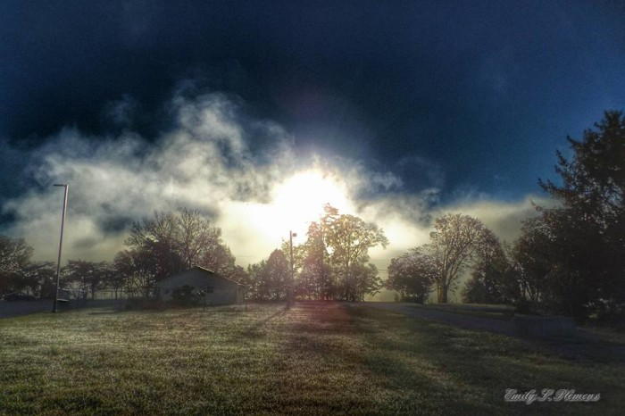 6) Emily also got this hazy shot of Lakeshore Park.