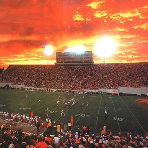 14. It would seem that even God was cheering for the Hokies in this sunset photo taken at Lane Stadium in Blacksburg, submitted by Terry Haden.