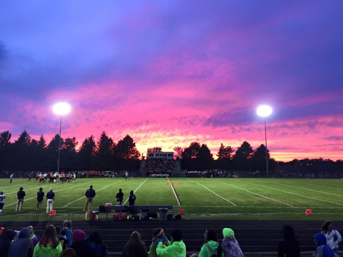 8) Talk about Friday Night Lights, we love this shot of the field at Leslie High School, taken by Becky Boucher.