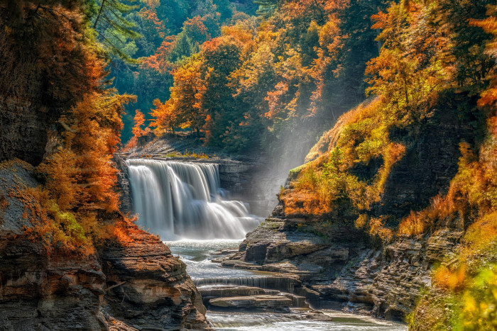 4. Lower Falls at Letchworth State Park waterfall