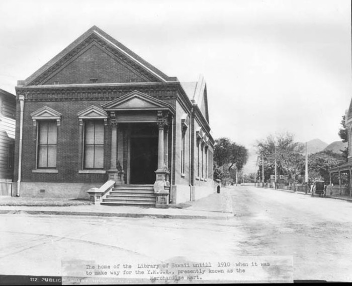 8) This building was home to the Library of Hawaii until 1910, when it was turned into a YMCA.