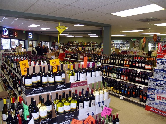 2. It is illegal for liquor stores to sell food...