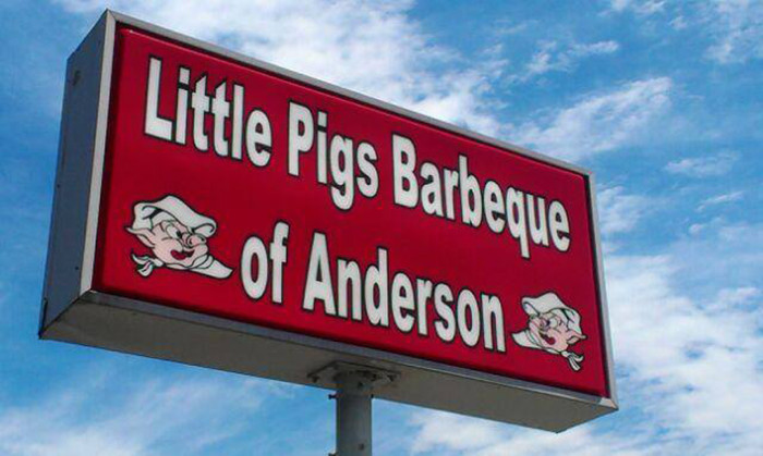 5. Little Pigs Barbeque, 1401 N Main St, Anderson