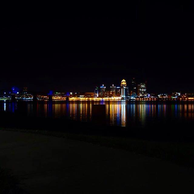 4. Louisville at night from an IN perspective via C.J. Phillips.
