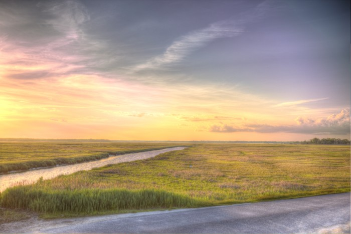 3. A sunset over the meadow in Turkey Point, taken by Jeffrey Page.