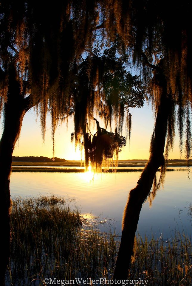 """8. """"The Calm after the Storm"""" was taken by Megan Weller Photography on Lady's Island in Beaufort. I love the way the sun is reflecting off the water and the glow."""
