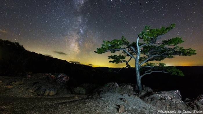 11. The Milky Way over Raven's Roost was captured exquisitely by James Beeler. Truly, an out-of-this-world shot.