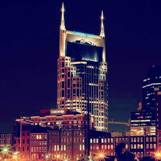 4) Nashville at night, courtesy of David Davis.