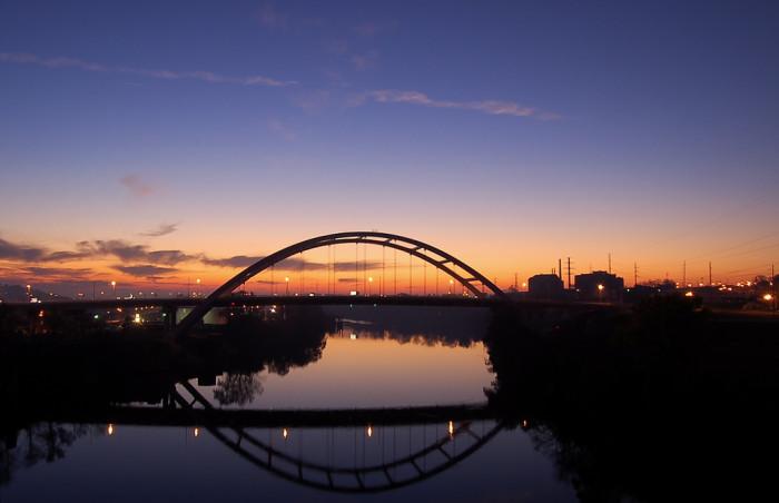 5) Here's Nashville, looking stunning at sunset.