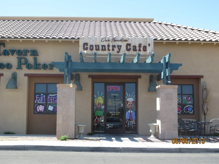 5. Our Families Country Cafe - Las Vegas