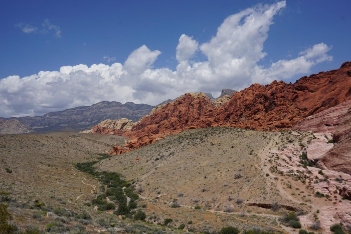 14. This view of the Red Rock Canyon is FANTASTIC!