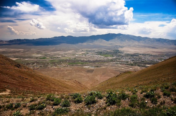 9. A magnificent view from Winnemucca Mountain.