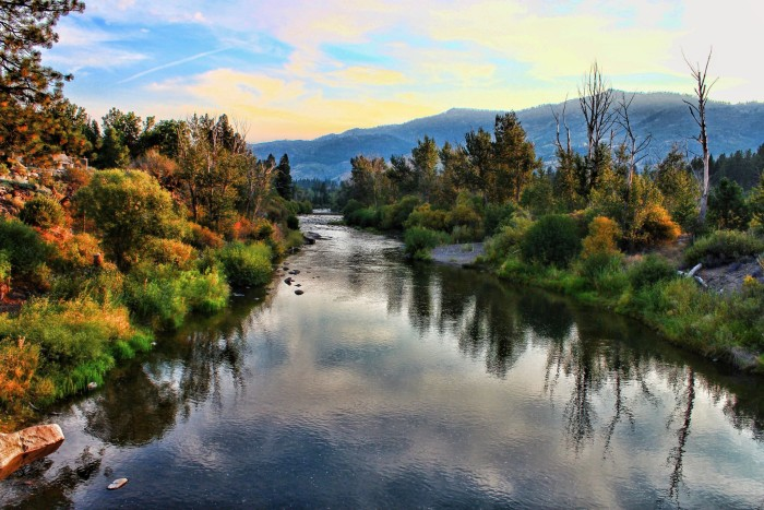 19. A beautiful view of the Truckee River in Verdi, Nevada.