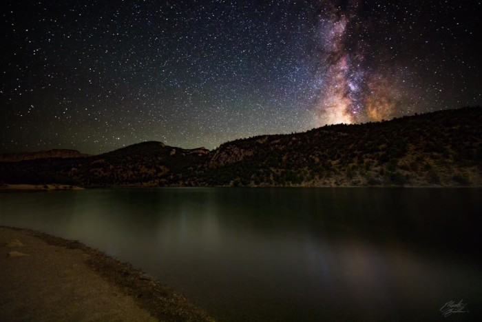 12. The magnificent night sky over Cave Lake.