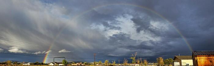 6. A magical rainbow in Silver Knolls, Nevada.