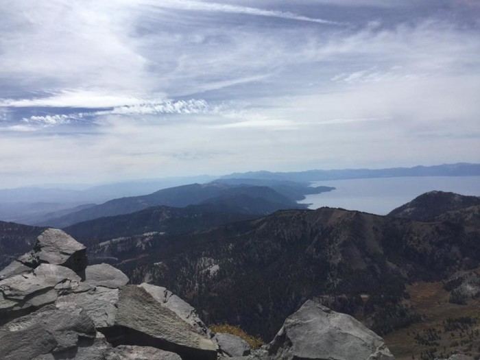 16. A beautiful view of Lake Tahoe from the Mount Rose Summit.