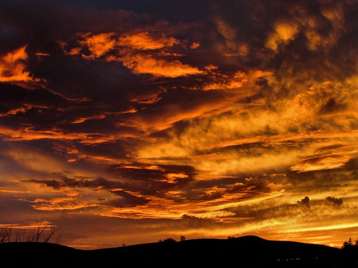 17. A gorgeous sunset in Spring Creek, Nevada.