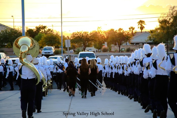 11. A fantastic shot of the Spring Valley High School Marching Band.
