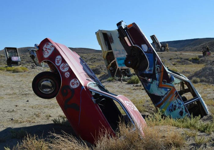 13. The International Car Forest of the Last Church in Goldfield, Nevada.