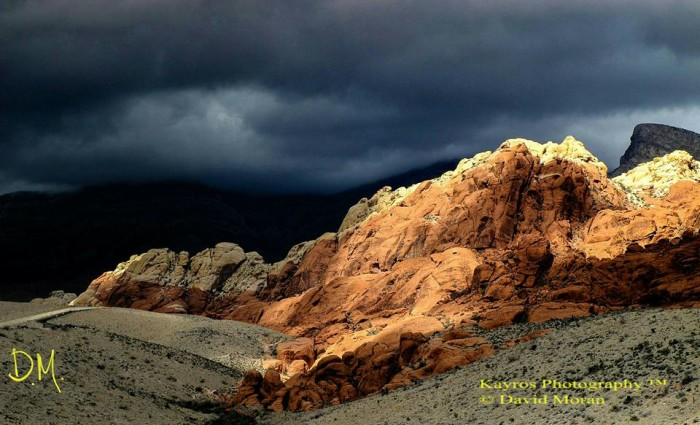 20. A marvelous view of a winter storm over Red Rock Canyon National Conservation Area.