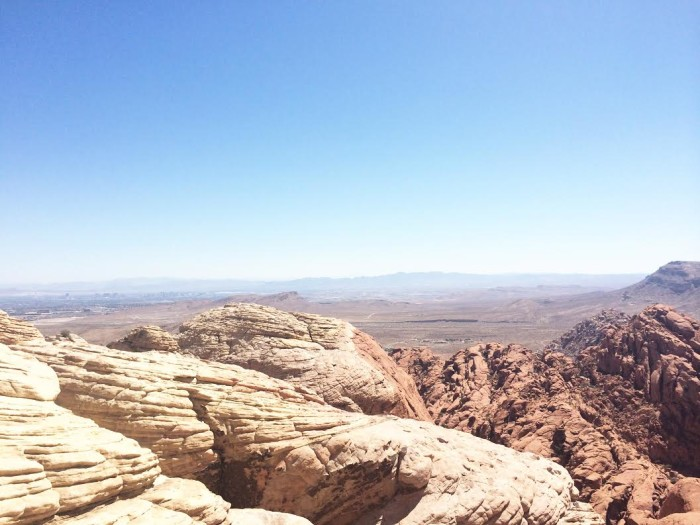 18. Oh, what a LOVELY view of Red Rock Canyon!