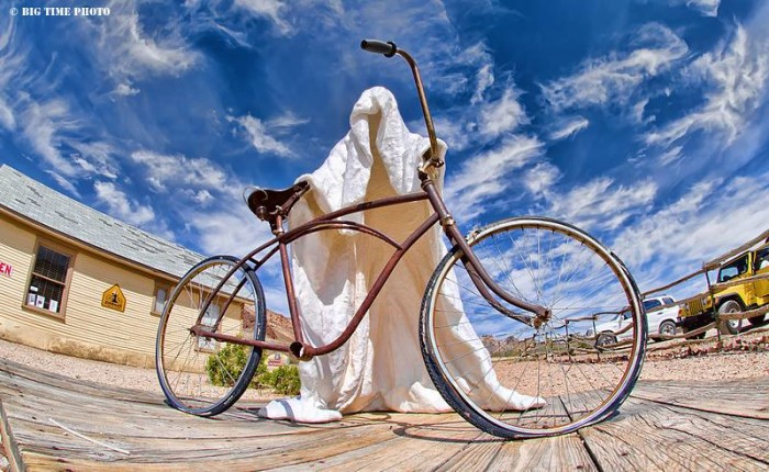 5. An interesting ghost sculpture at the Goldwell Open Air Museum near Rhyolite, Nevada.