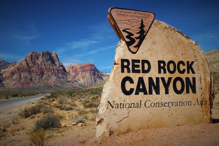17. An inviting entrance to the Red Rock Canyon National Conservation Area.