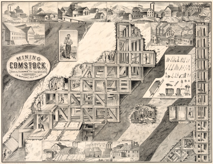 6. America's largest silver deposit, the Comstock Lode, was discovered in Nevada in 1859. Without this discovery, there's no telling what America's silver mining history would've entailed.