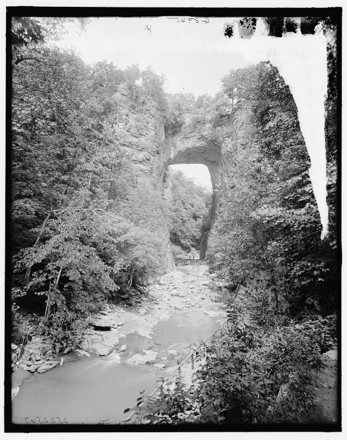 16. A view of Natural Bridge taken between 1900 - 1915.