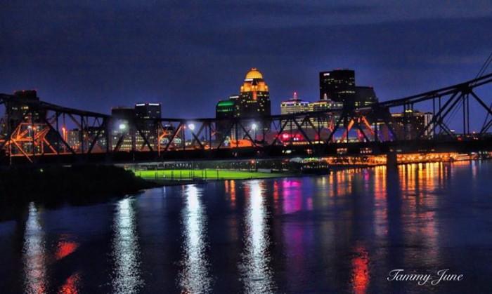 6. Neon lights of Louisville via Tammy Ransdell.