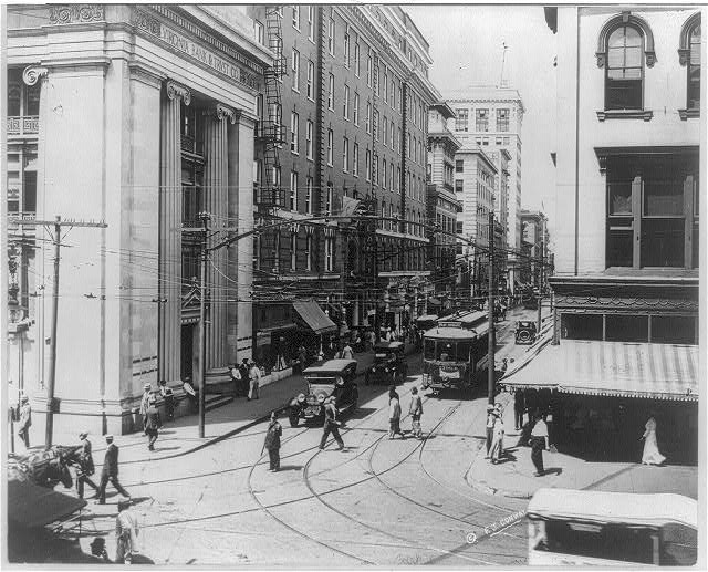 12. Granby Street shown from the corner of Main Street in Norfolk, 1915.