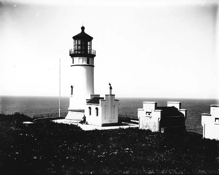 11. The North Head Lighthouse in Cape Disappointment State Park, taken in 1910!