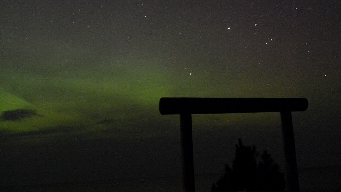 6) Northern Lights over Lake Superior