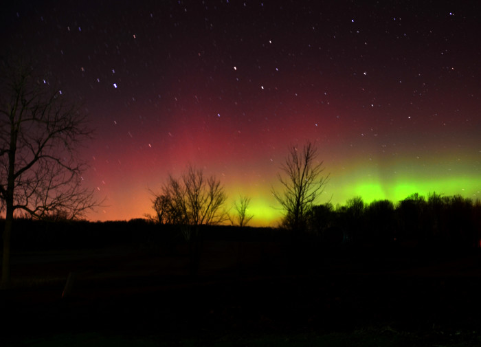 5) Northern Lights over mid Michigan