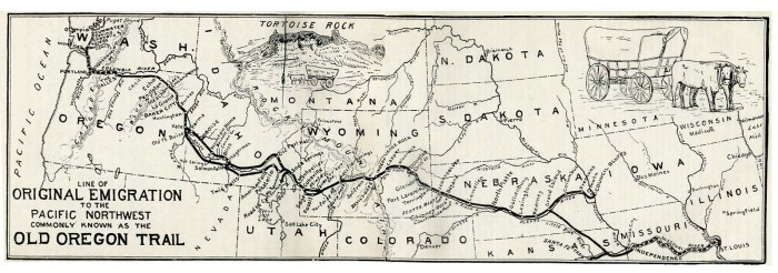 8. Several travelers on the Oregon Trail ended their journey in Kansas because of the possibilities of the land.