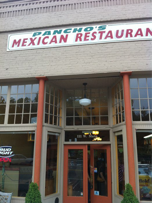 10. Pancho's Mexican Restaurant, 111 South Main Street, Central