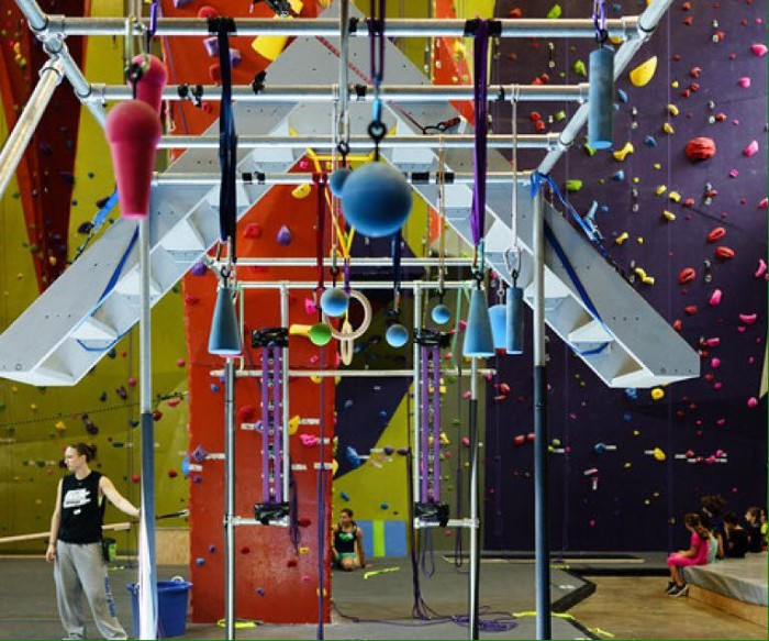 5. Become a Ninja Warrior with parkour classes.