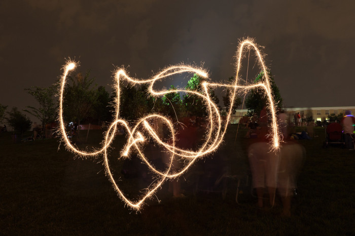 14. Patriotic sparklers in Arlington.