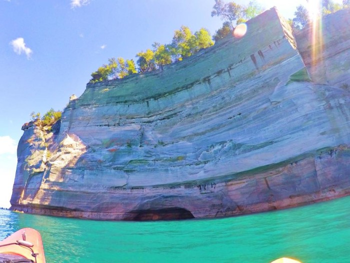 1) Submitted by Kelly Ross, a shot of Pictured Rocks National Lakeshore.