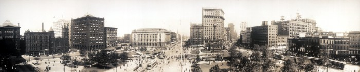 1. Panorama of Public Square in Cleveland, OH (Circa 1912)