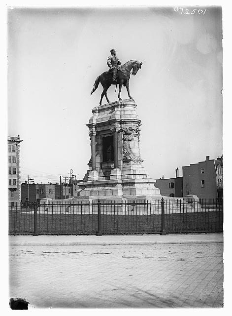 15. The iconic statue of Robert E. Lee on Monument Avenue in Richmond, c. 1915