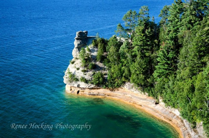 5) Renee Hocking's photo of Miners Castle at Pictured Rock National Lakeshore...