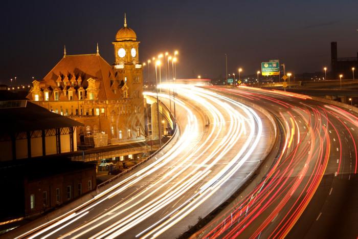 1. Richmond Clock Tower during rush hour.