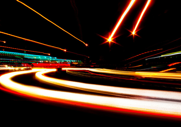 8. Route 1 in Crystal City looks more like Space Mountain in this long exposure shot.