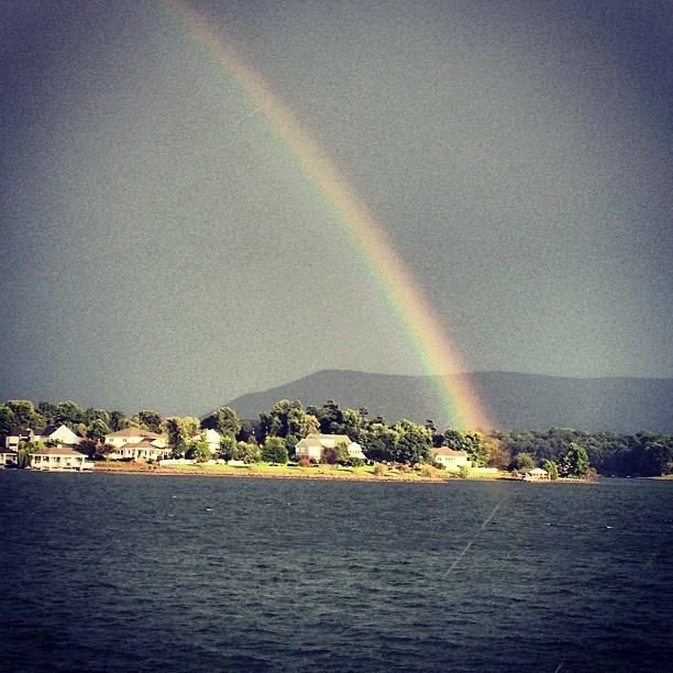 13. Smith Mountain Lake is better than a pot of gold at the end of this rainbow. Submitted by Robin Miles Kubo.