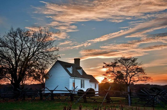 10. Sailor's Creek Battlefield lights up as the sun sets in this photo submitted by Laura Russell.